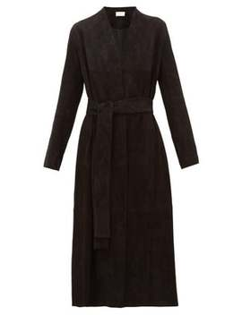 Luisa Stretch Lambskin Suede Coat by The Row