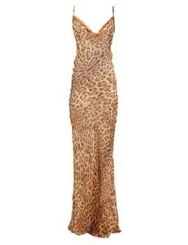 Valentina Leopard Print Silk Chiffon Dress by Rat & Boa