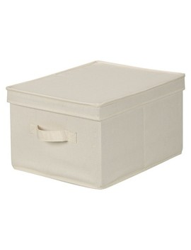 Household Essentials® Canvas Cube Storage Box   Natural Large by Shop This Collection