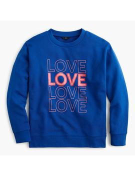 """Love"" Pullover Sweatshirt by J.Crew"