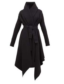 Asymmetric Cotton Blend Coat by Norma Kamali