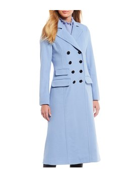 Julia Fit & Flare Double Breasted Skirted Dress Wool Blend Coat by Antonio Melani