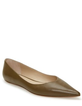 Annette Leather Ballerina Flats by Etienne Aigner