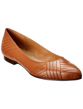 French Sole Amelia Leather Flat by French Sole