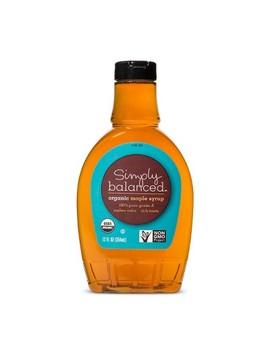 Organic Pure Maple Syrup   12 Fl Oz   Simply Balanced™ by Simply Balanced