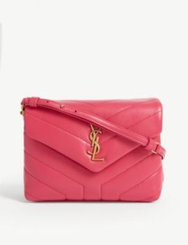 Lou Lou Leather Shoulder Bag by Saint Laurent