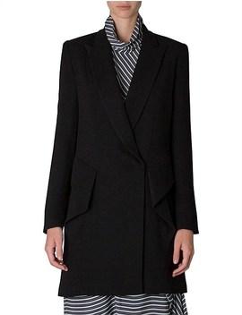 Black Crepe Marlene Short Coat by Bianca Spender