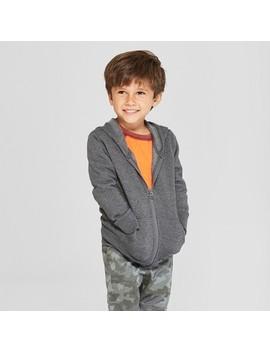Toddler Boys' Fleece Zip Up Hoodie   Cat & Jack™ Charcoal 2 T by Cat & Jack