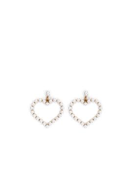 Pearl Heart Earrings by Oasis