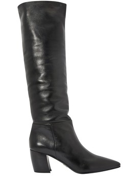 Banana Heeled Boots by Prada