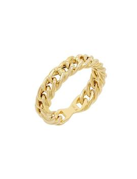 Thick Chain Link Ring 14 K by Adina's Jewels