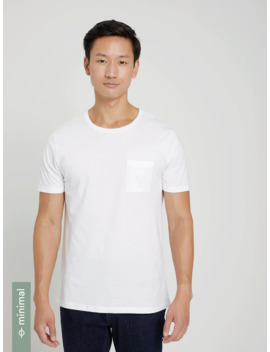 Good Cotton Soft Pocket Tee In Bright White by Frank & Oak