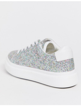 Asos Design Doro Chunky Lace Up Sneakers In Glitter by Asos Design