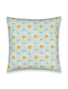 Öja Floral / Starburst Cotton Cushion Cover by La Redoute Interieurs