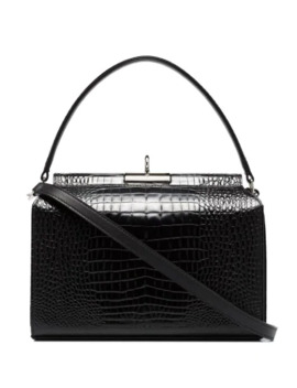 Small Tully Crocodile Effect Tote by Gu De