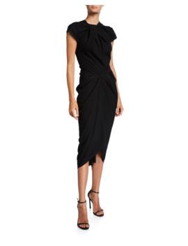 Glenda Ruched Cap Sleeve Dress by Unttld