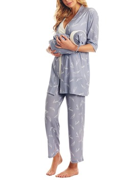 Analise During & After 5 Piece Maternity/Nursing Sleep Set by Everly Grey