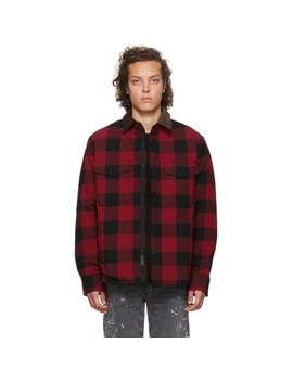 Black & Red Padded Jack Shirt by Rag & Bone