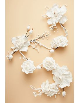 Mulberry Paper Flower Garland by Anthropologie