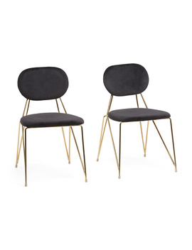 Set Of 2 Velvet Gwen Chairs by Tj Maxx