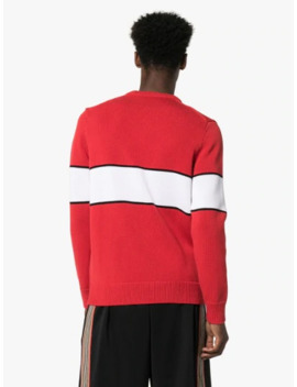 Intarsia Knit Upside Down Logo Jumper by Givenchy