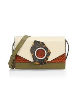 Colorblock Leather Crossbody by Ganni