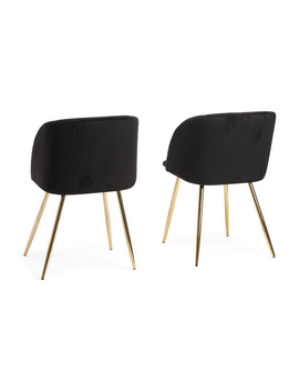 Set Of 2 Velvet Fran Chairs by Tj Maxx