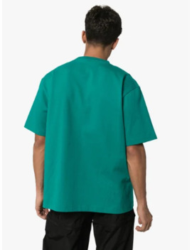 Green Paris Flag Print T Shirt by Balenciaga