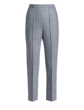 Check Slim Ankle Pants by Fendi