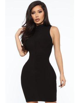 Stay With Me Mini Dress   Black by Fashion Nova