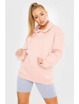 Pink Oversized Hoodie by In The Style