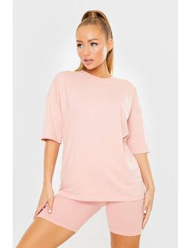 Pink Oversized Slouchy T Shirt by In The Style