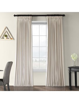 Rhinehart Solid Max Blackout Thermal Rod Pocket Single Curtain Panel by Joss & Main
