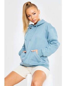 Blue Oversized Hoodie by In The Style