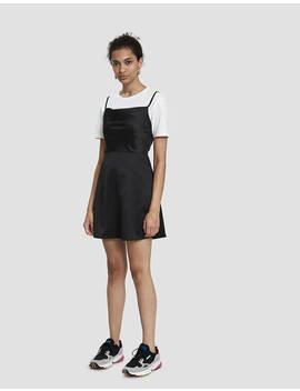 Caspen Cowl Neck Mini Dress In Black by Stelen Stelen