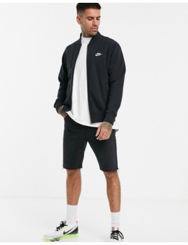 Nike – Schwarze Fleece Bomberjacke by Asos