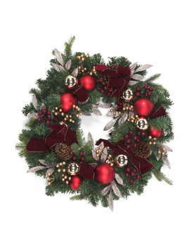 30in Wreath With Pinecone Berry Ribbon by Tj Maxx