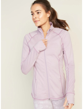 Fitted Soft Brushed Performance Zip  Jacket For Women by Old Navy