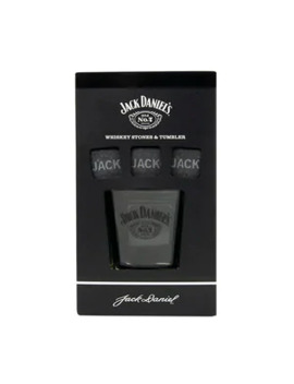 Jack Daniel's Glass & Whiskey Stones by Superdrug