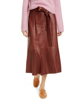 Leather Midi Skirt by Vince