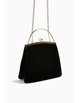 Garland Nude Velvet Frame Bag by Topshop