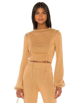 Maria Sweater In Tan by Camila Coelho