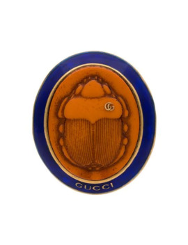 Orange And Blue Beetle Cameo Brooch by Gucci