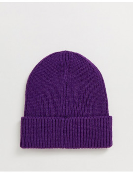 The North Face Tnf Box Logo Cuff Beanie In Purple by The North Face