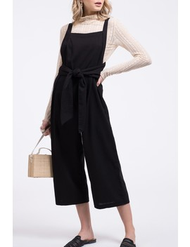 Sleeveless Front Tie Jumpsuit by Blu Pepper