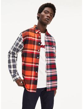 Lewis Hamilton Mixed Check Shirt by Tommy Hilfiger