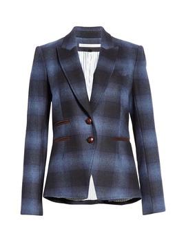 Hudson Plaid Wool Blend Dickey Jacket by Veronica Beard