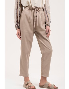 Cropped Paperbag Waist Pants by Blu Pepper