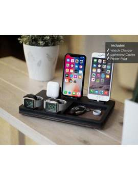 Nyt Stnd Couples V Black Docking Stand | Multiple Device Wireless Charger | I Phone, Apple Watch, Air Pods | Apple Organizer | Anniversary Gift by Etsy