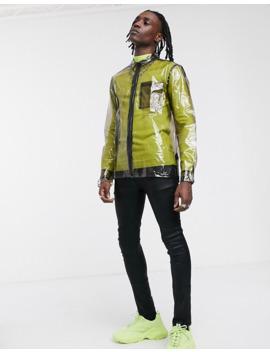 Asos Design Black Clear Zip Through Overshirt by Asos Design